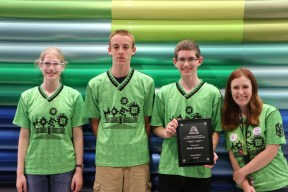 Noah Andrews and MOE FTC teammates Photo from Axalta Coating Systems website