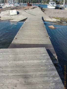 Steg rüber zur Brücke nach Uunisaari