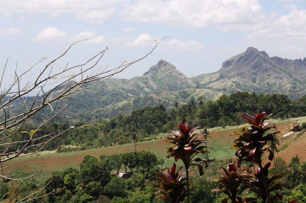 Mountains and hills surround the church compound.