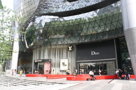 Posh shops are found along Orchard Road.