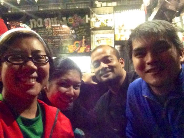 A mini-reunion of sorts, plus we have a new-found friend. Photo by Abby Pacquing.