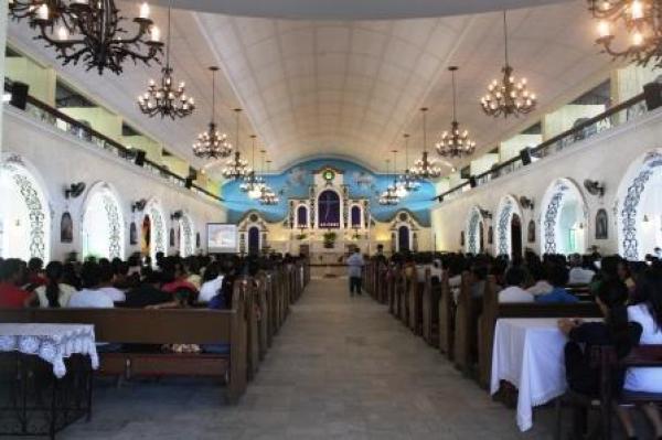 Inside the San Juan Nepomuceno Church.