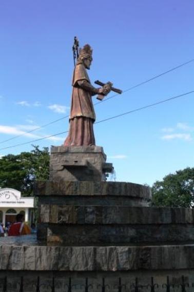 San Juan Nepomuceno or St. John Nepomucene, holding a crucifix.