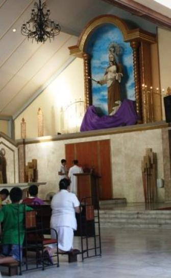 The altar of the church.