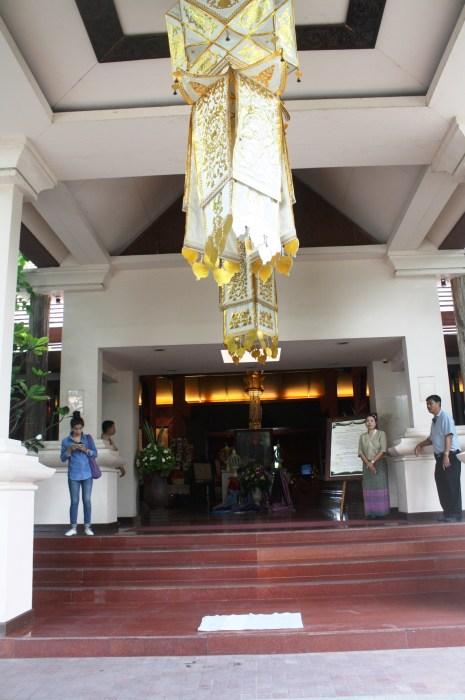 The main entrance of Siripanna Villa Resort and Spa.