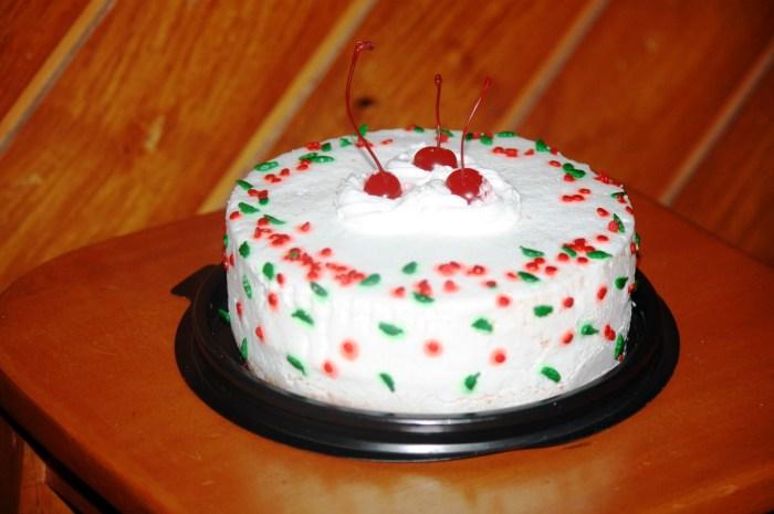 Christmas cherry cake.