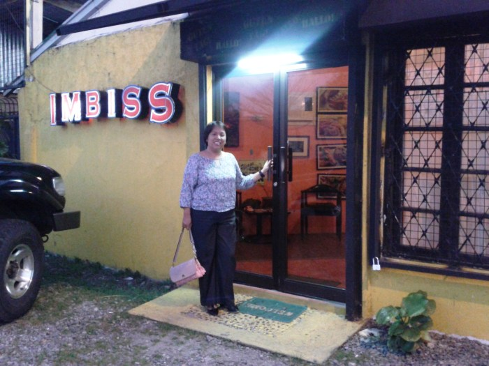 The very unassuming facade of Imbiss. A home seems to wait for you as you enter its doors.