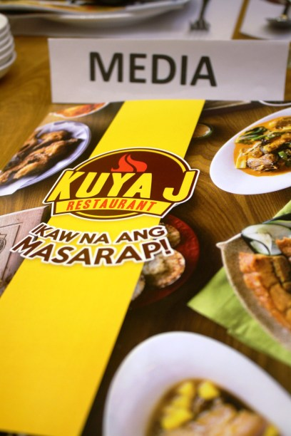 Our reserved table at Kuya J Restaurant during its opening.