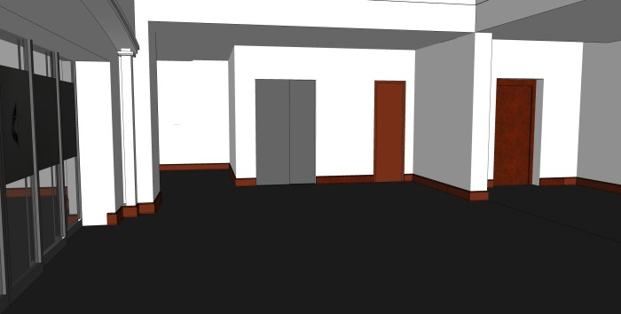 3 - Hospitality Room Facing Elevator and Main Entrance Stairwell