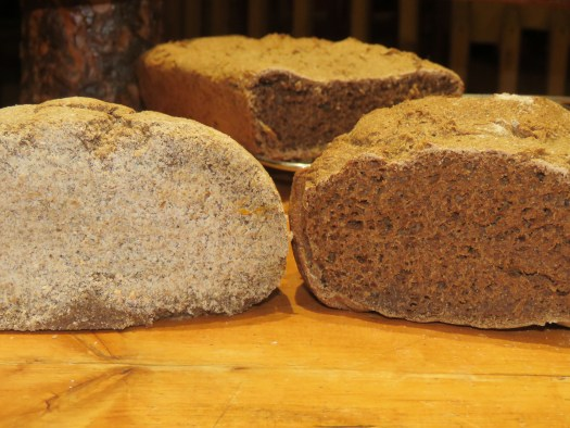 Same rye flour, two very different sourdough loaves: 1st try on the left, 2nd try on the right. Photo by Suzanne Crocker