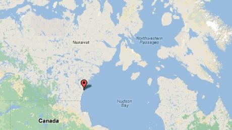 Arviat Map, Nunavut, Canada