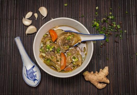 Caribou Wonton Soup, image by Cathie Archbould