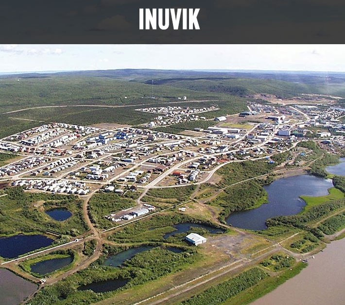 Information about Inuvik, NWT. From FirstWeEat.ca, the Food Security North of 60 website supporting First We Eat, a documentary by Yukon filmmaker Suzanne Crocker about eating only locally-grown foods in in Dawson City, Yukon, in Canada's North, for one year.