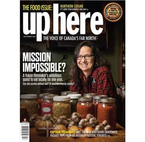 Suzanne Featured in Up Here Cover Story