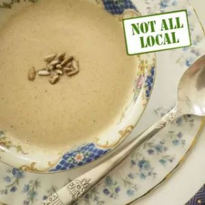 Sunflower soup recipe. From FirstWeEat.ca, the Food Security North of 60 website supporting First We Eat, a documentary by Yukon filmmaker Suzanne Crocker about eating only locally-grown foods in in Dawson City, Yukon, in Canada's North, for one year.