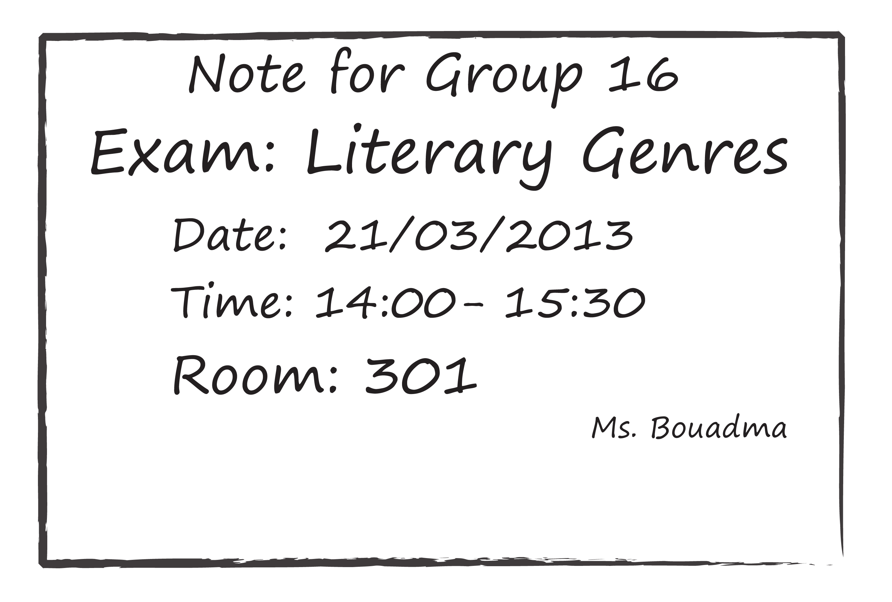 Group 16 Literary Genres Exam Resources For 1st Year L M D Students