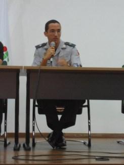 Tenente Valadares apresenta o painel: a Fiscalização Urbano Ambiental e as forças de segurança