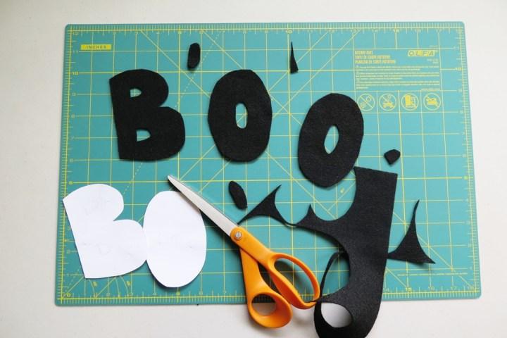 BOO felt letters