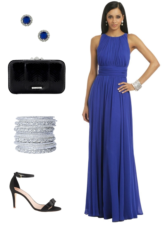 royal blue wedding guest dress dressing for a fall wedding with rent the runway 7165