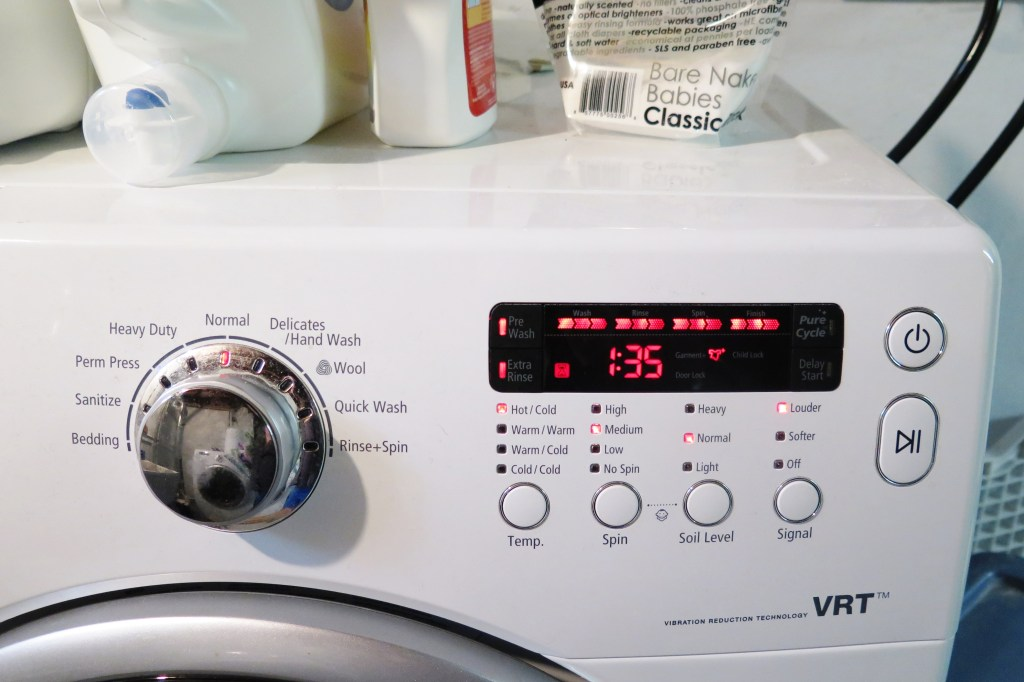 washing machine settings for cloth diapers