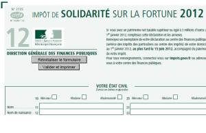 ISF 2012 IMPRIME 2725 300x193 ISF 2012 : Limprimé fiscal ISF 2725  à declarer au plus tard le 15 juin 2012