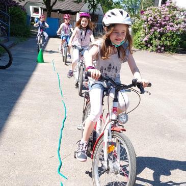 Endlich wieder Fahrradtraining mit allen Kindern