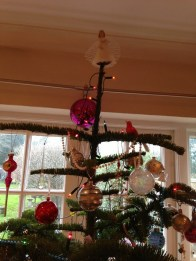 The top of the tree - only precious decorations are allowed up here