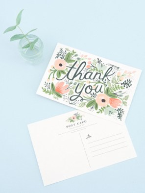 Pretty thank you cards