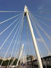 Blue Sky over Hungerford Bridge