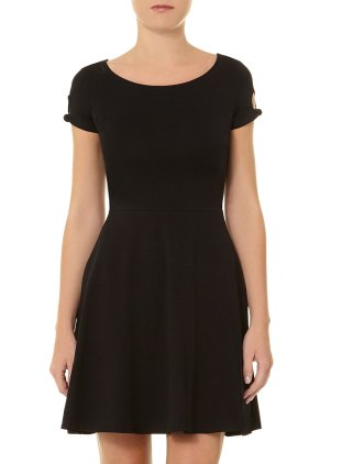 Black tie sleeve dress