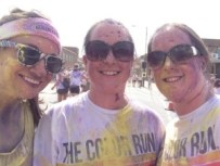 Part way through the Color Run