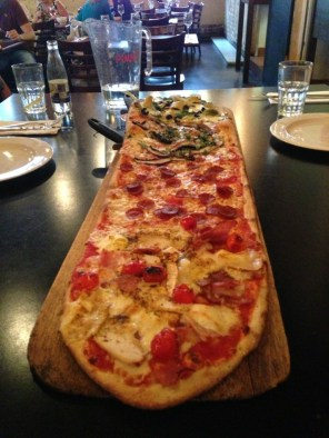 A yard of pizza - genius!