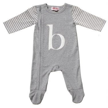 alphabet sleepsuit