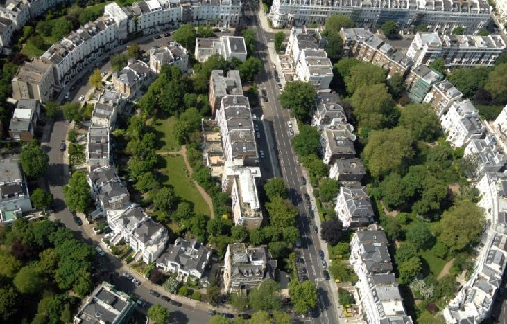 Ladbroke Estate im Stadtteil Notting Hill im Stadtbezirk Royal Borough of Kensington and Chelsea in London in der Grafschaft Greater London in Großbritannien
