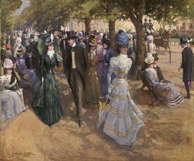 John-Sanderson-Chruch-Parade-Hyde-Park-sezon-towarzyski-Londyn-1899