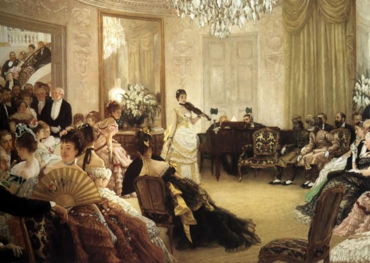 James-Tissot-Hush-sezon-towarzyski-Londyn-1875