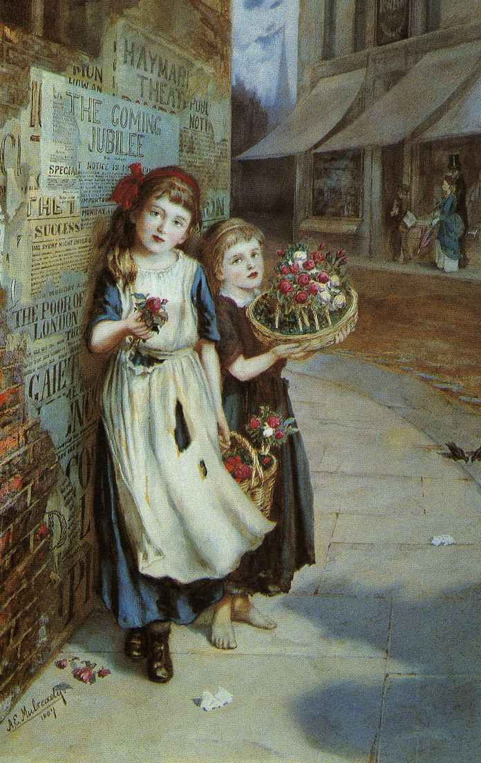 Little-Flower-Sellers-Augustus-Mulready-1887
