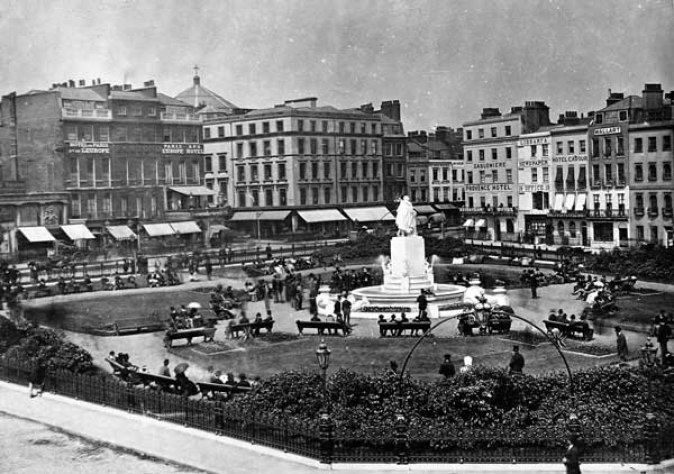 Leicester-Square-1880-London