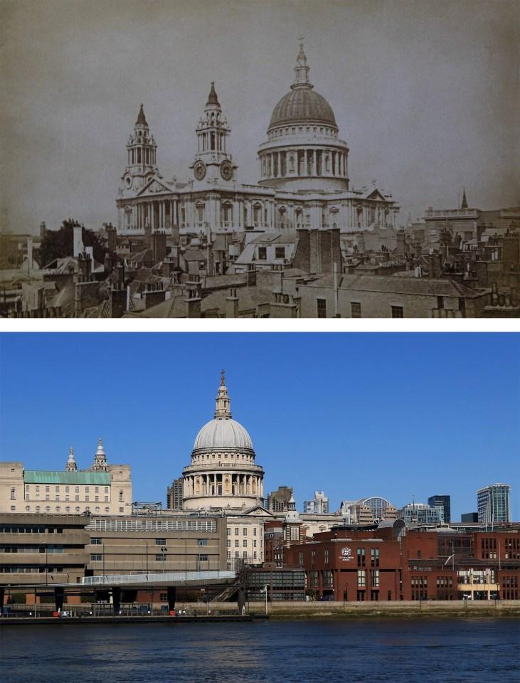 St-Paul's-Cathedral-Londyn-kiedyś-i-dziś