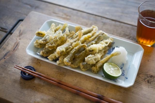 ハゼ釣りのあとはハゼの天ぷらを食べよう