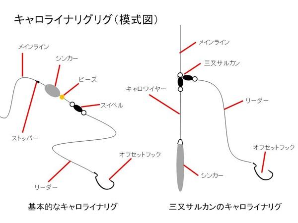 キャロライナリグの構造