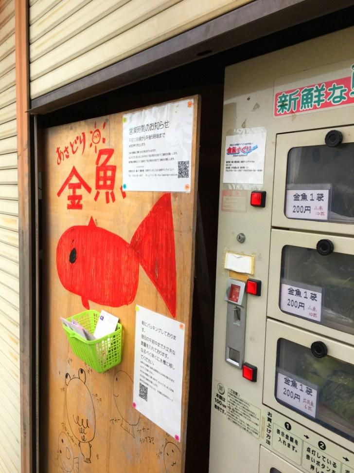 大和郡山の金魚自動販売機
