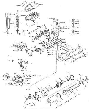 Minn Kota PowerDrive 765 MXT Parts  1999 from FISH307
