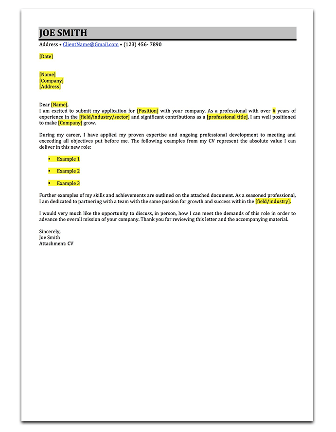 cover letter drop shadow 2 - Stand Out Cover Letter