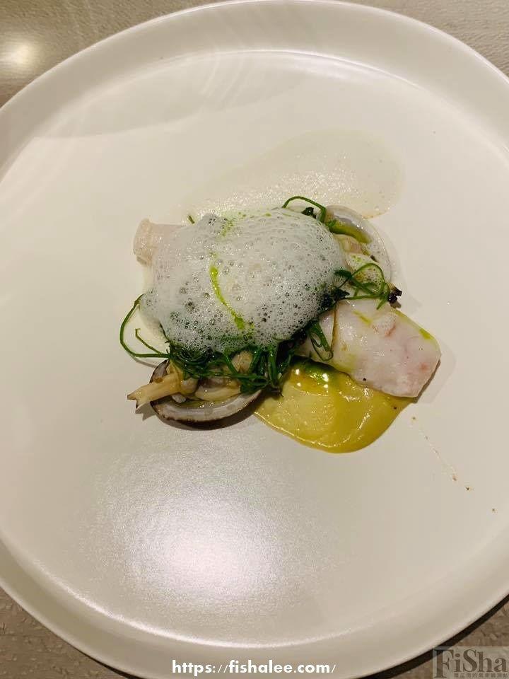 grouper, clams, gracilaria, taiwanese satay
