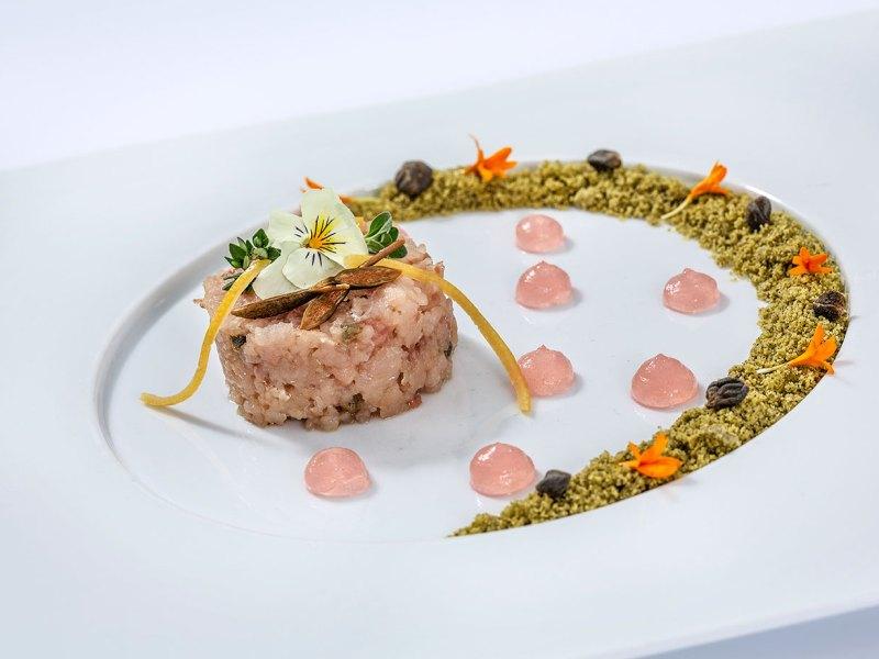 Tartare di Coregone   Chef Alberto Bertani