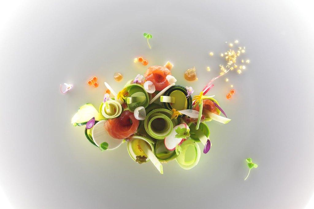 insalata di trota - ricette del dream team - chef Stefano Baiocco