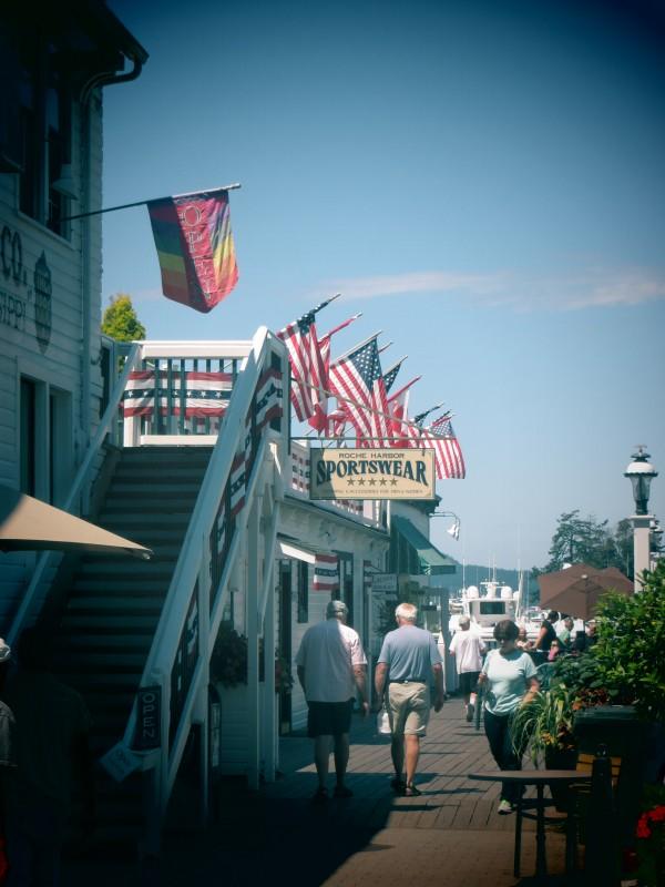 Drapeaux américains - Roche Harbor sur San Juan Island