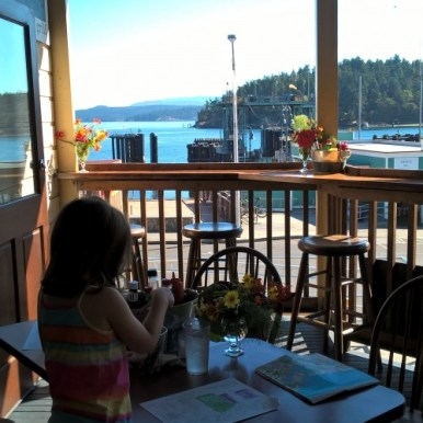 restaurant à Friday Harbor sur San Juan Island - USA