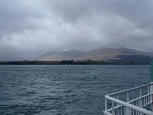 sur le ferry pour l'île de Mull